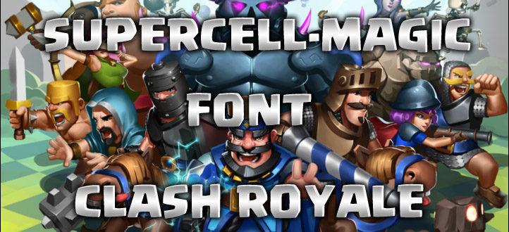 Шрифт Clash Royale/Clash of Clans (скачать)